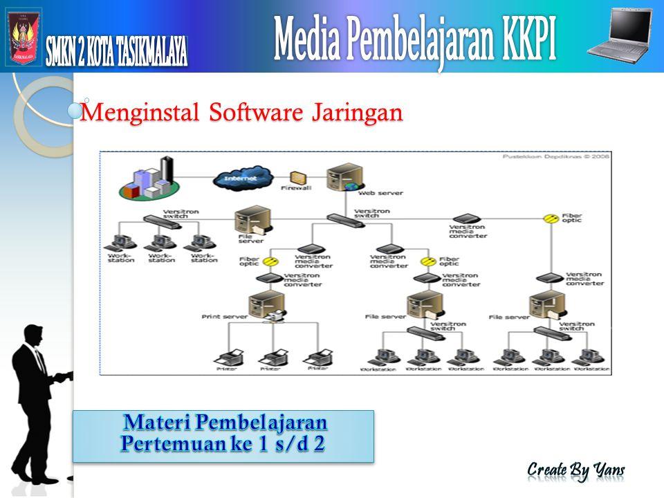 Menginstal Software Jaringan
