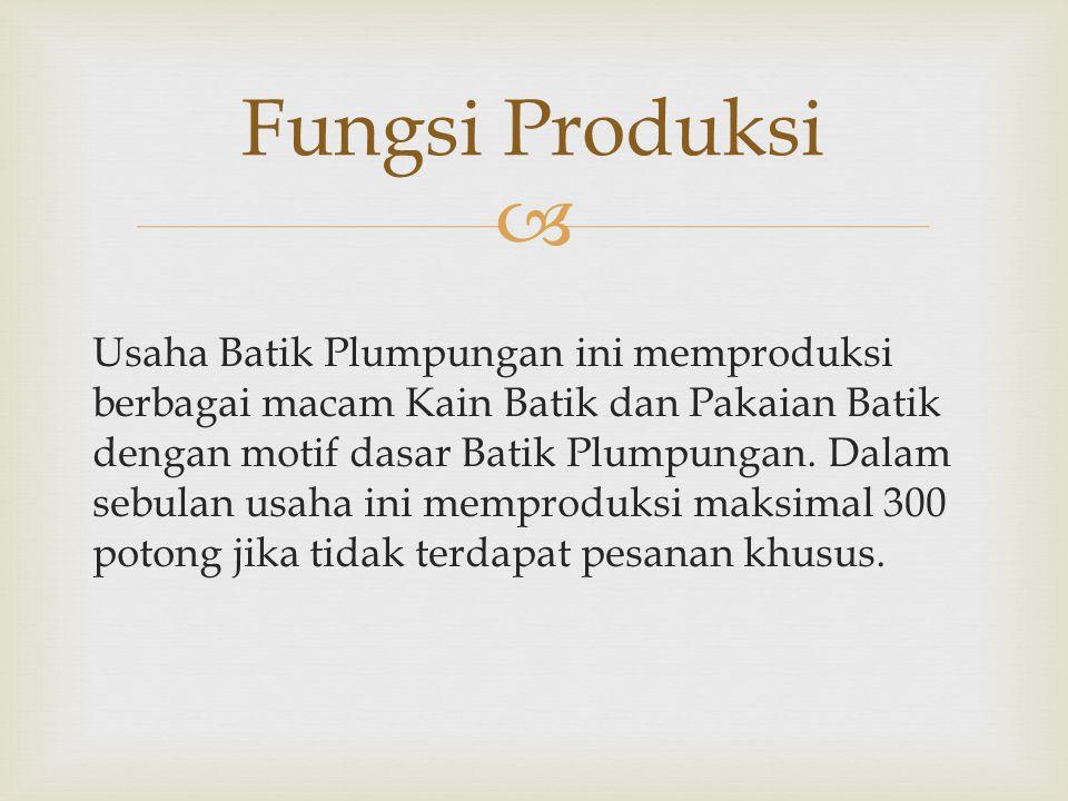  Usaha Batik Plumpungan ini memproduksi berbagai macam Kain Batik dan Pakaian Batik dengan motif dasar Batik Plumpungan.
