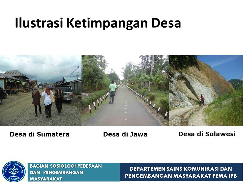DEPARTEMEN SAINS KOMUNIKASI DAN PENGEMBANGAN MASYARAKAT FEMA IPB BAGIAN SOSIOLOGI PEDESAAN DAN PENGEMBANGAN MASYARAKAT Ilustrasi Ketimpangan Desa Desa