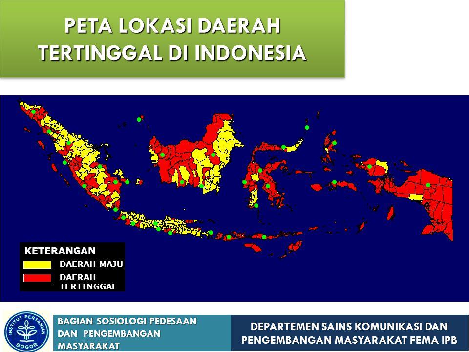 DEPARTEMEN SAINS KOMUNIKASI DAN PENGEMBANGAN MASYARAKAT FEMA IPB BAGIAN SOSIOLOGI PEDESAAN DAN PENGEMBANGAN MASYARAKAT Sumatera (58 kabupaten) Bali 1 NAD16 Indonesia Timur (123 kabupaten) Sumatera Barat 9 Papua 19 Bengkulu 8 Nusa Tenggara Timur 15 Sumatera Selatan 6 Sulawesi Selatan 13 Sumatera Utara 6 Sulawesi Tengah 9 Lampung 5 Kalimantan Barat 9 Kep.