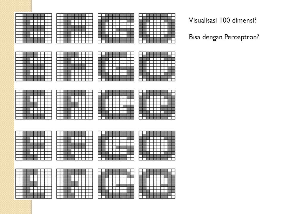 Visualisasi 100 dimensi? Bisa dengan Perceptron?