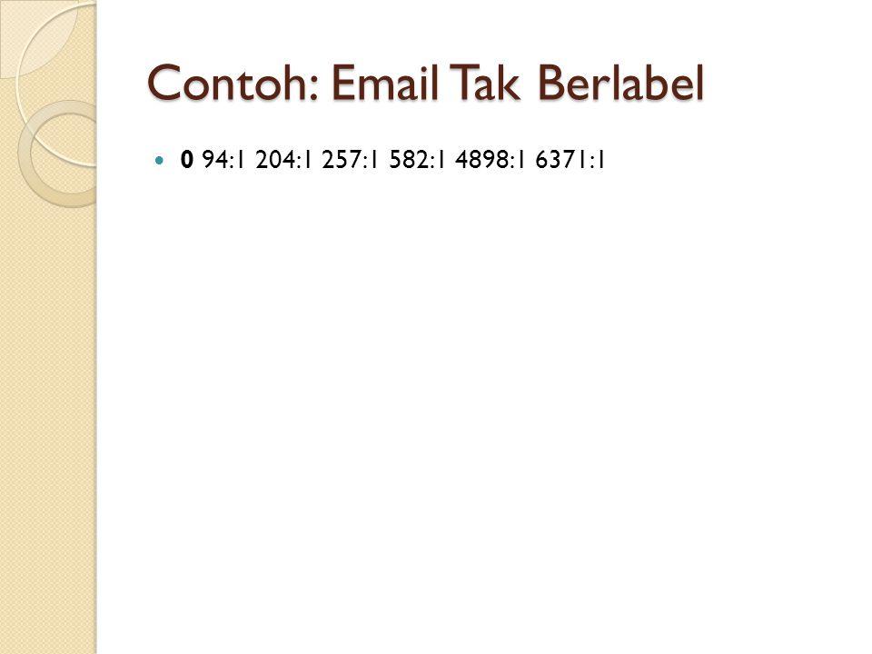 Contoh: Email Tak Berlabel 0 94:1 204:1 257:1 582:1 4898:1 6371:1