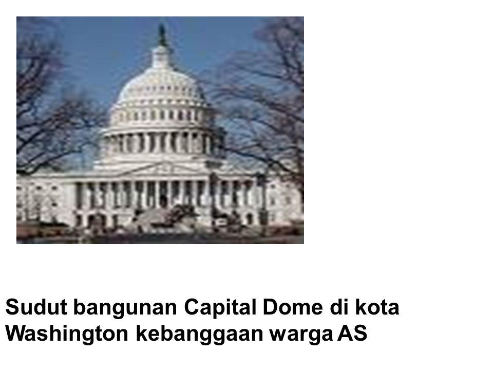 Sudut bangunan Capital Dome di kota Washington kebanggaan warga AS