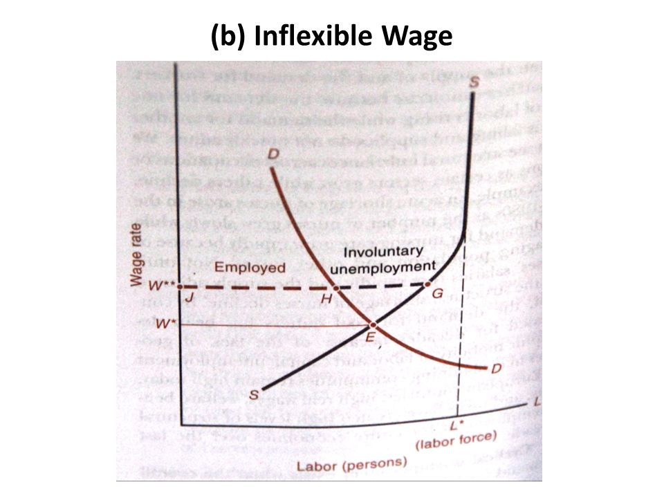 (b) Inflexible Wage