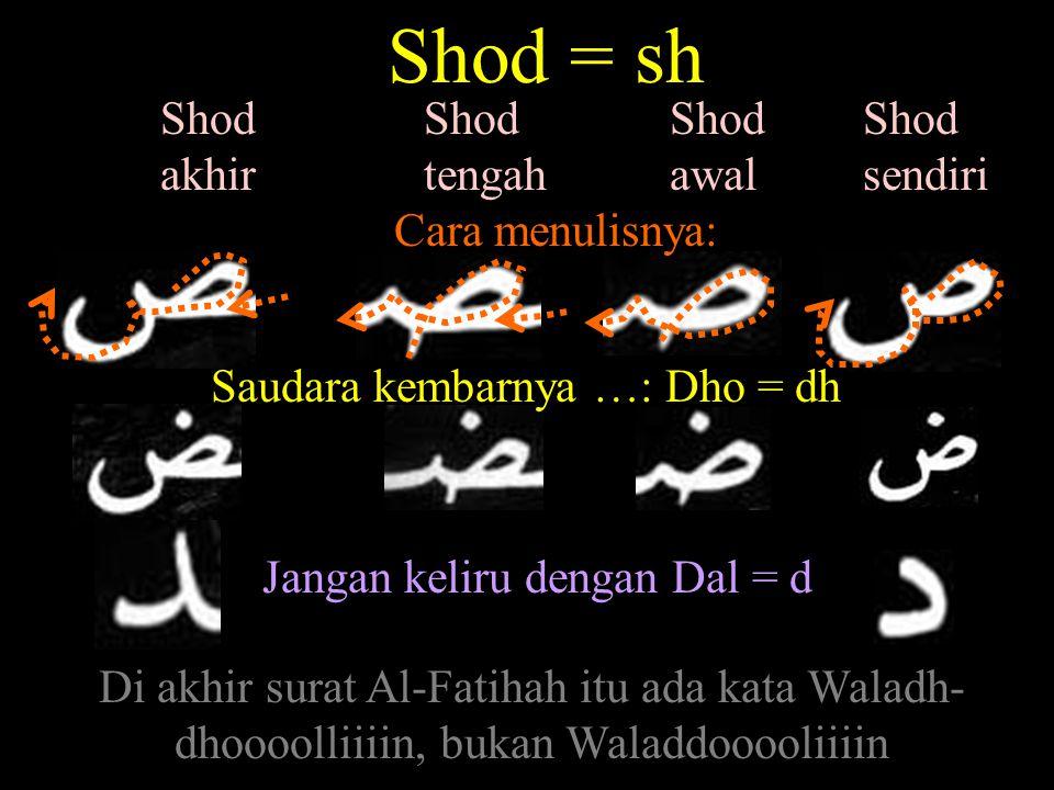 Ra = r Ra awal Ra sendiri Ra tengah Ra akhir Cara menulis : Saudara kembarnya Zai = z Jangan keliru dengan Dza = dz i-dzaa = ketika/tiba-tiba Wa-hhaa-dzaa = dan ini