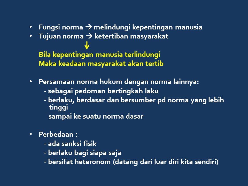 AZAS HUKUM Dasar yang menjadi sumber pandangan hidup, kesadaran dan cita-cita hukum dari masyarakat Di Indonesia sudah dikenal dalam hukum adat, sampai sekarang masih relevan