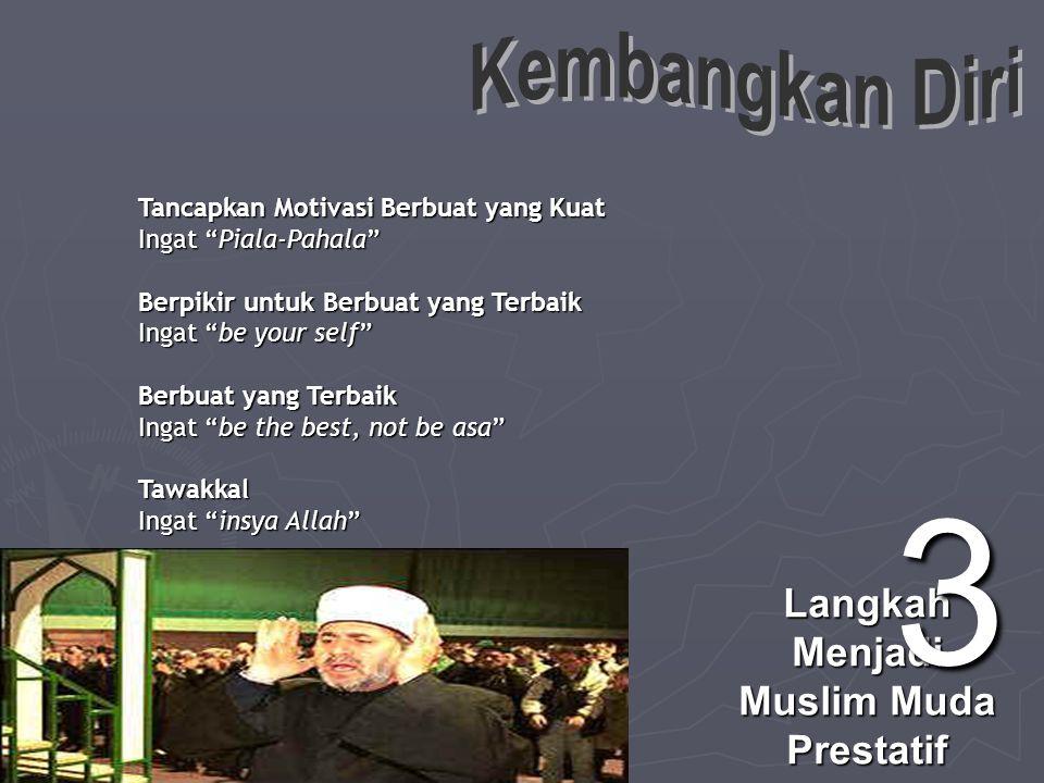 Muslim Terbaik adalah Muslim yang memiliki valensi hingga mampu menyeru ke jalan Allah (dakwah), Muslim yang beramal shalih, Muslim yang bangga berjatidiri Islam, Muslim yang mampu mempertanggungjawabkan dirinya di hadapan Allah.