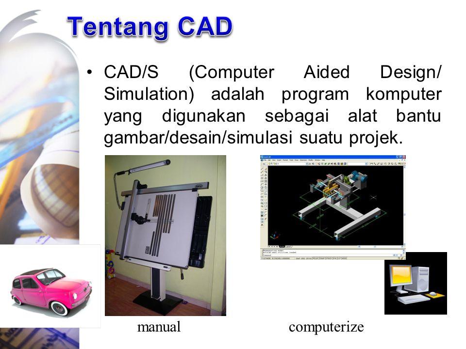 CAD/S (Computer Aided Design/ Simulation) adalah program komputer yang digunakan sebagai alat bantu gambar/desain/simulasi suatu projek. manualcompute