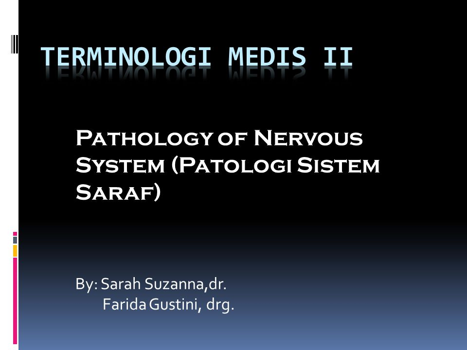 Sistem Saraf Tepi (perifer) Sistem saraf tepi terbagi menjadi dua, yaitu: - Sistem saraf somatik - Sistem saraf otonom