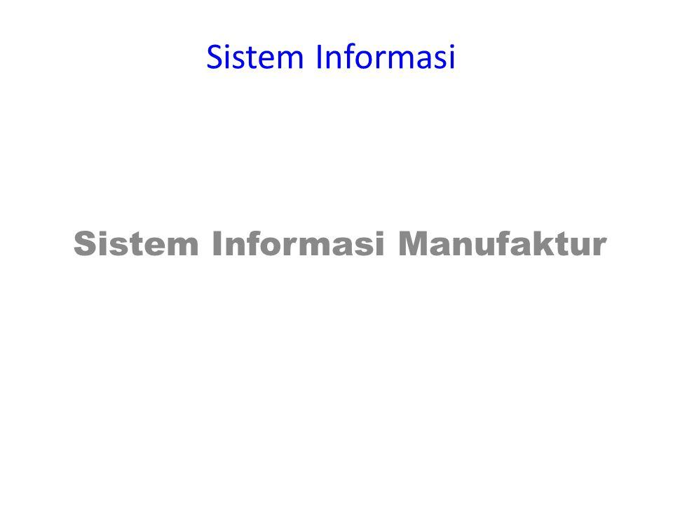 Sistem Informasi Sistem Informasi Manufaktur
