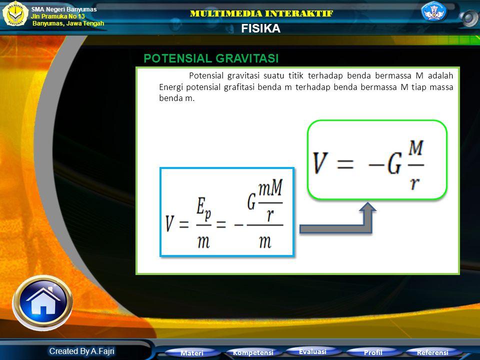 Usaha yang diperlukan untuk memindahkan sebuah benda dari jarak terhadap pusat massa ke jarak terhadap pusat massa. Bertanda positif berarti kita haru