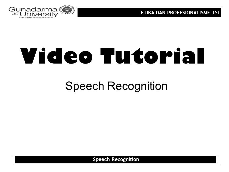 ETIKA DAN PROFESIONALISME TSI Video Program Effectif untuk: Menghubungkan suatu gagasan dengan gagasan lainnya Membangun kesinambungan berfikir Menciptakan dampak dramatis atas suatu subyek Video Program