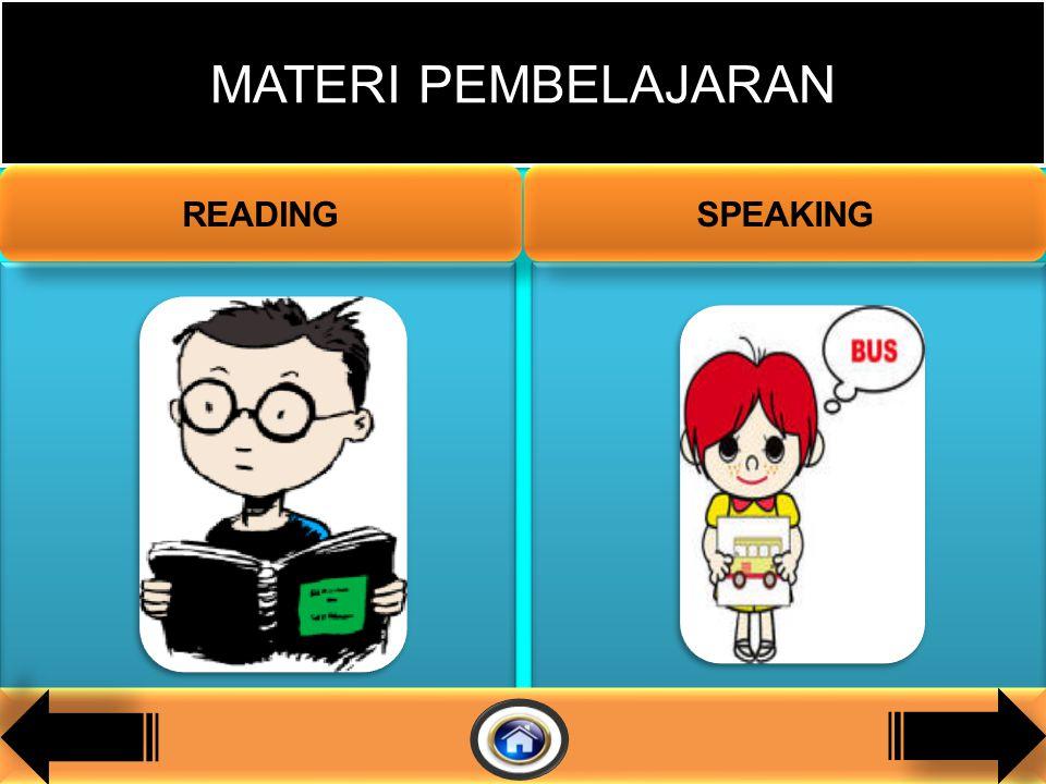 1.Siswa mampu mengucapkan / melafalkan kata/frasa dengan baik dan benar. 2.Siswa mampu membaca kata/frasa/kalimat dengan intonasi yang benar. 1.Siswa