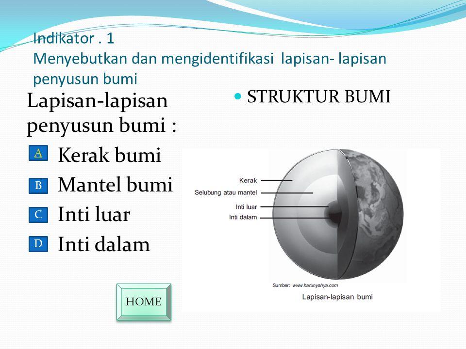 Mendeskripsikan Struktur Bumi Menyebutkan dan mengidentifikasi lapisan-lapisan penyusun bumi Menyebutkan dsan mengidentifikasi lapisan-lapisan penyusu