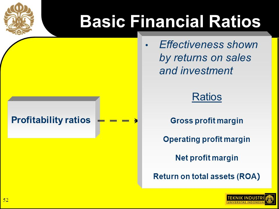 51 Activity ratios Effective use of firm's resources Ratios Inventory-turnover Fixed assets turnover Total assets turnover Accounts receivable turnove