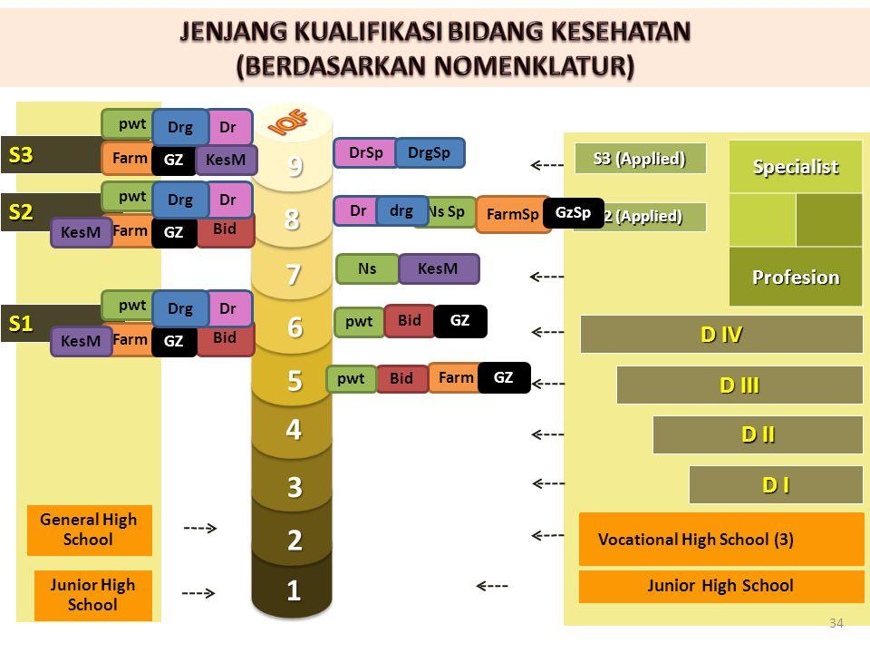 S2 S1 S3 1 2 3 4 5 7 8 9 6 D I D III D II D IV S2 (Applied) S3 (Applied) General High SchoolSpecialistProfesion Vocational High School (3) Junior High