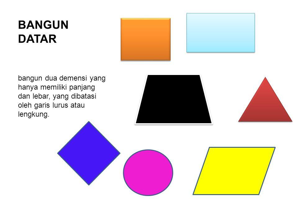 Ciri-ciri dari persegi antara lain : a.Memiliki empat sisi yang sama panjang, AB = BC = CD = AD b.