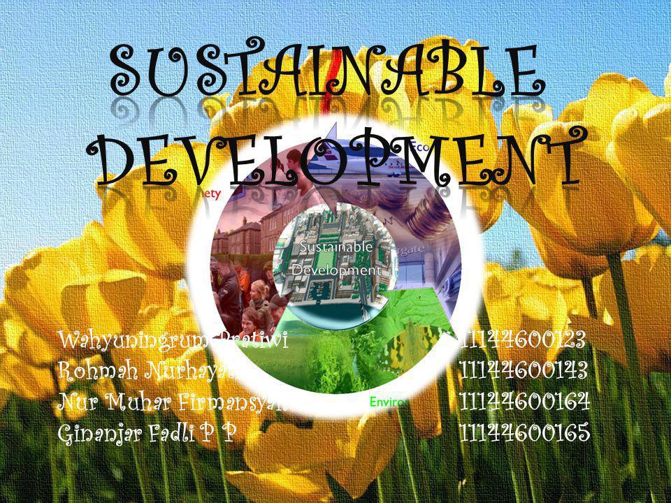 MATERI PEMBAHASAN A.Pengertian Sustainable Development B.