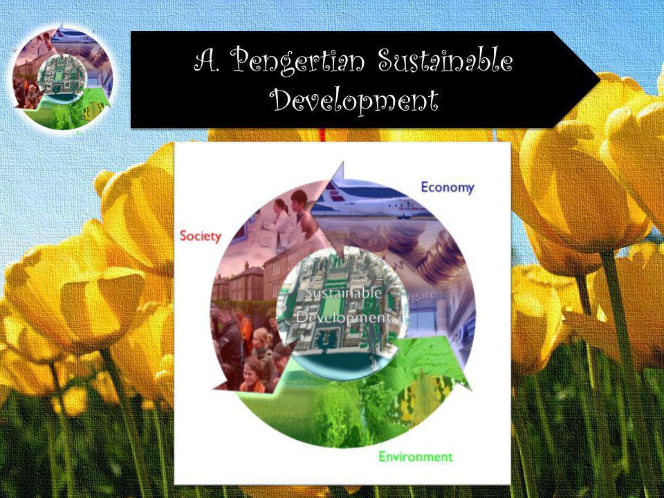 Agar pembangunan dapat berkelanjutan maka diperlukan pokok-pokok kebijaksanaan sebagai berikut E.