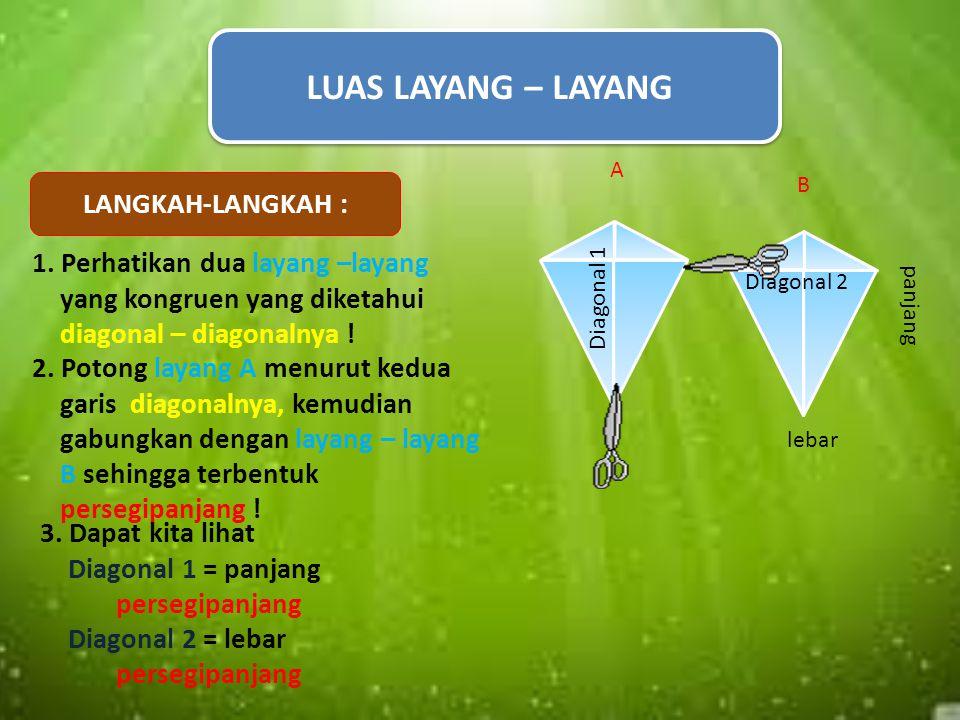 Rumus KELILING belahketupat adalah : K = sisi AB + sisi BC + sisi CD + sisi AD = 4 x sisi yang diketahui