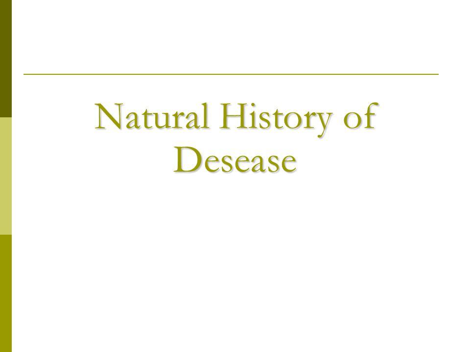Natural History of Desease