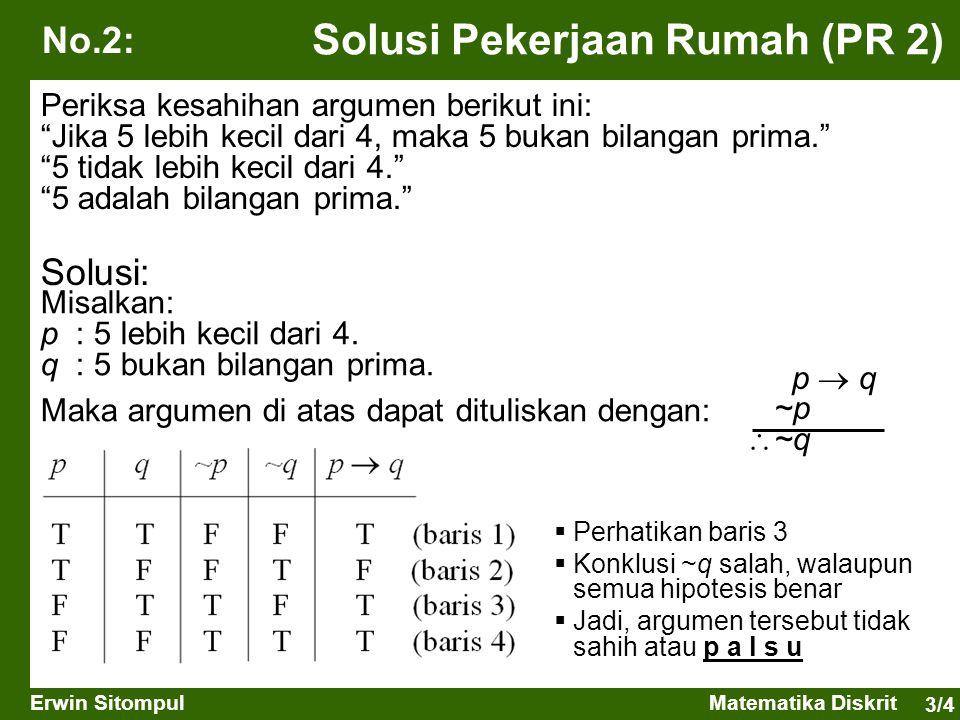 3/5 Erwin SitompulMatematika Diskrit Terminologi Himpunan (set) adalah kumpulan obyek-obyek yang berbeda.