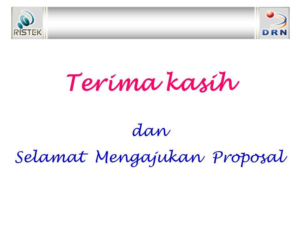 Terima kasih dan Selamat Mengajukan Proposal