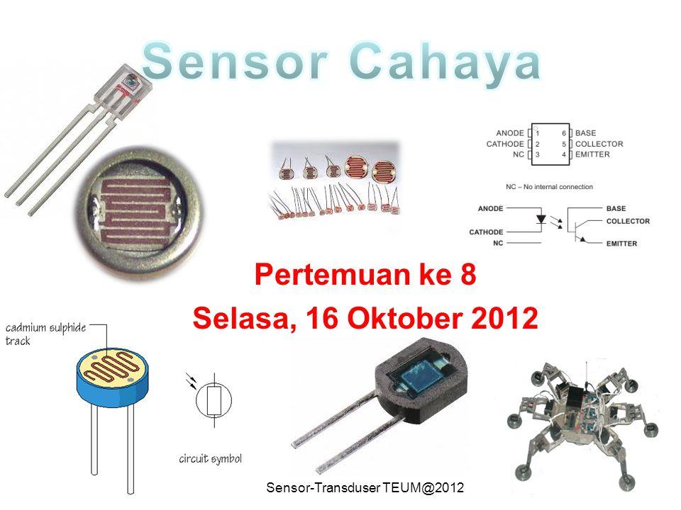 Sensor-Transduser TEUM@201212 Penguat Tak Membalik Arus yang mengalir pada resistor Ri sama dengan yang mengalir pada resistor Rf, yaitu: Tegangan keluaran Vo: I