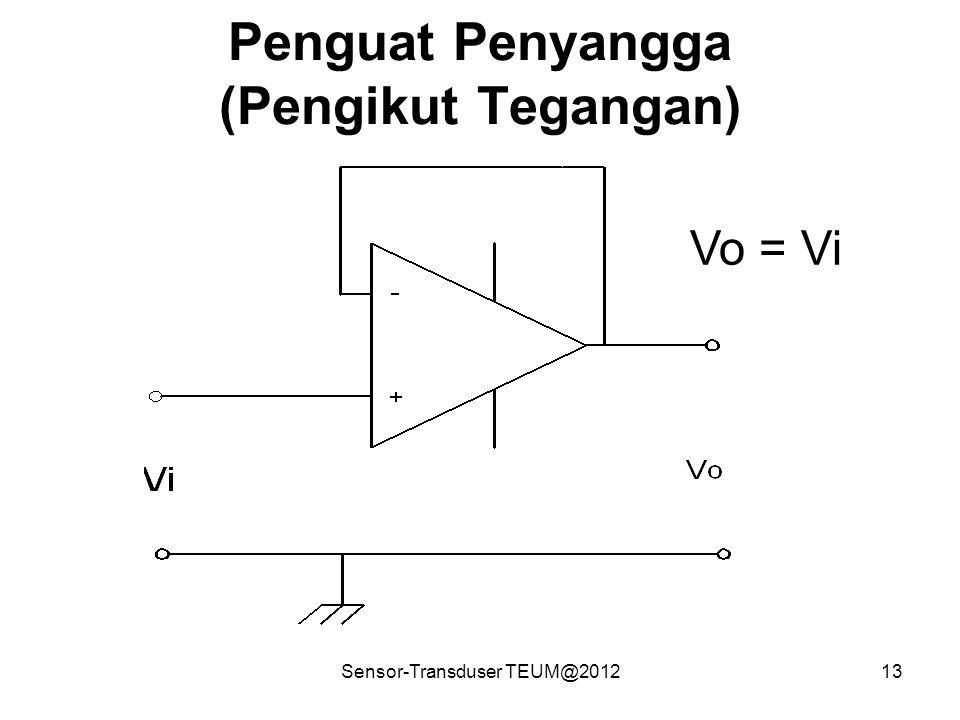 Sensor-Transduser TEUM@201213 Penguat Penyangga (Pengikut Tegangan) Vo = Vi