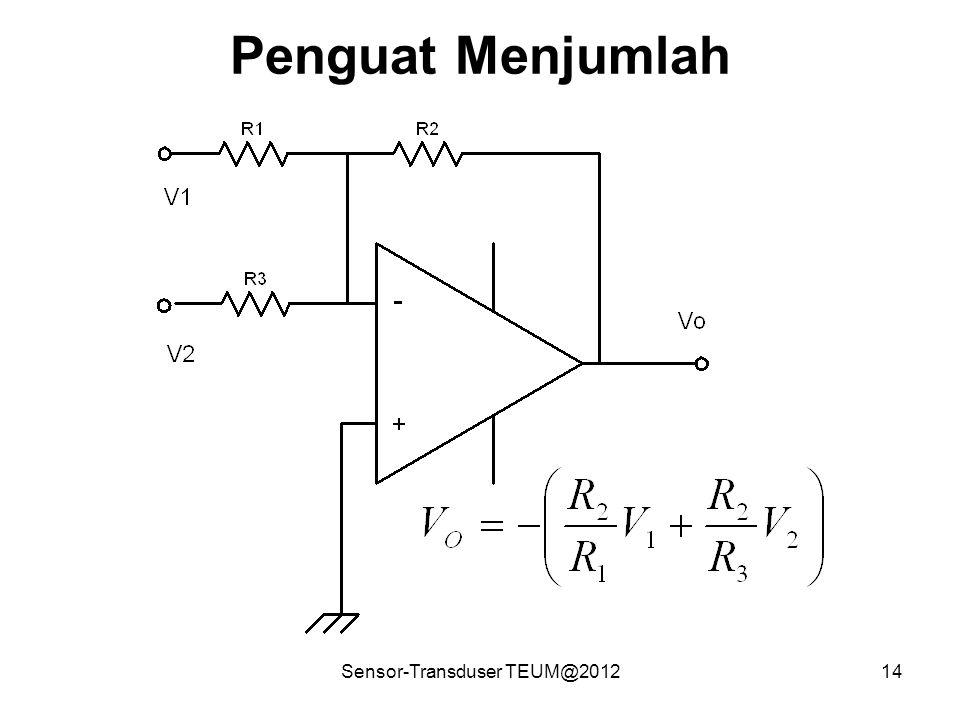 Sensor-Transduser TEUM@201214 Penguat Menjumlah