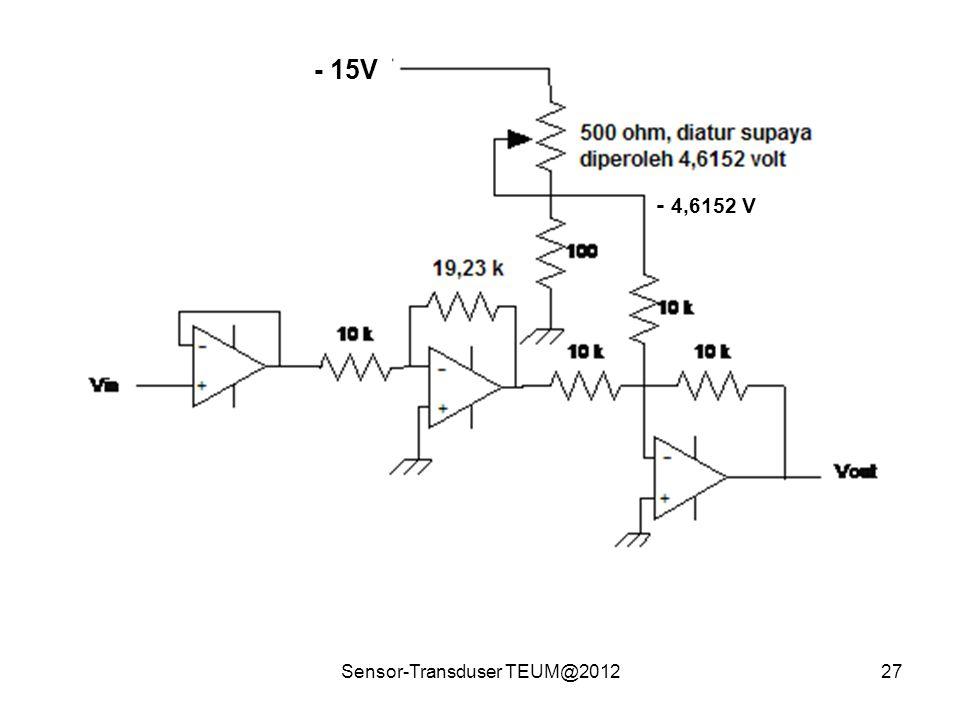 Sensor-Transduser TEUM@201227 - 15V - 4,6152 V