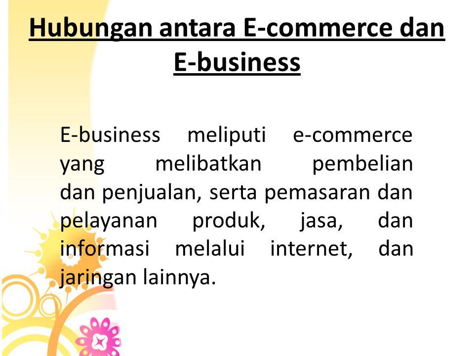 Apa itu E - commerce dan E - business ? Ecommerce dapat didefinisikan sebagai segala bentuk transaksi perdagangan atau perniagaan barang E-Business (I