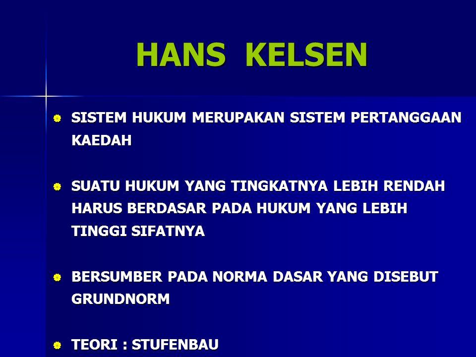 DOKTRIN YANG DIANUT: THE DOCTRINE OF PRECEDENT/ STARE DECISIS  HUKUM YANG SUDAH ADA DI DALAM PUTUSAN HAKIM LAIN DARI PERKARA SEJENIS SEBELUMNYA HAKIM HARUS MENDASARKAN PADA PRINSIP SEBELUMNYA (PRESEDEN)