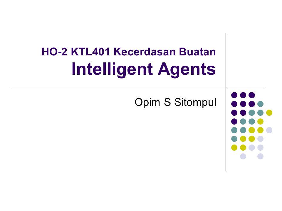 HO-2 KTL401 Kecerdasan Buatan Intelligent Agents Opim S Sitompul