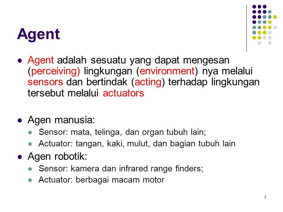 14 Jenis-jenis Lingkungan Fully observable (vs.