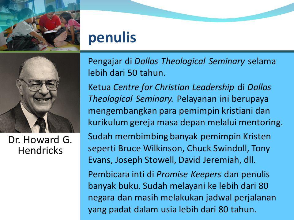 Pengajar di Dallas Theological Seminary selama lebih dari 50 tahun.