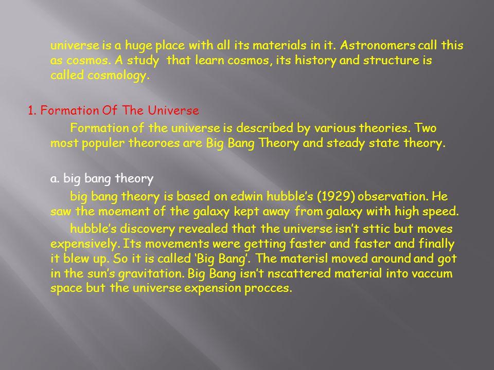Sumber : yudistira Tampaknya Teori Alam Semesta yang Berayun merupakan kelajutan dari teori Dentuman Besar.