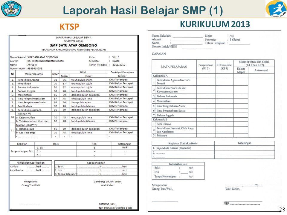 Laporah Hasil Belajar SMP (1) KTSP KURIKULUM 2013 23
