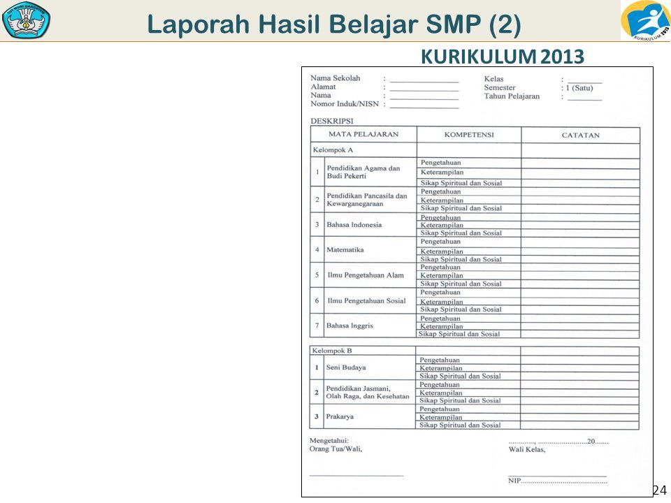 Laporah Hasil Belajar SMP (2) KURIKULUM 2013 24