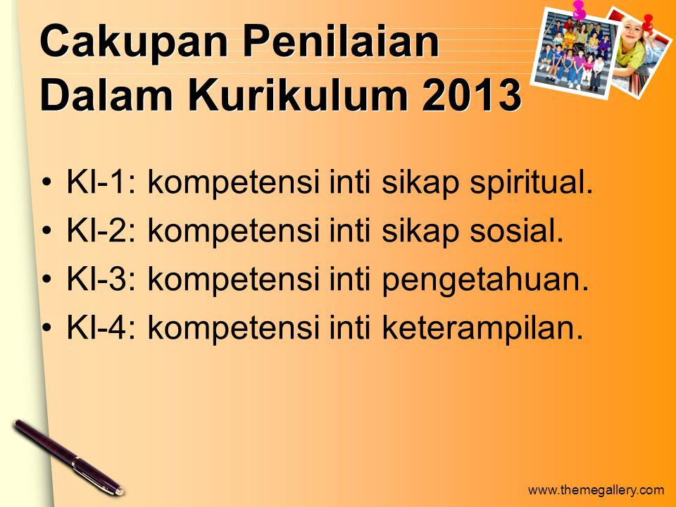 www.themegallery.com Otentik 1.Memandang penilaian dan pembelajaran secara terpadu.