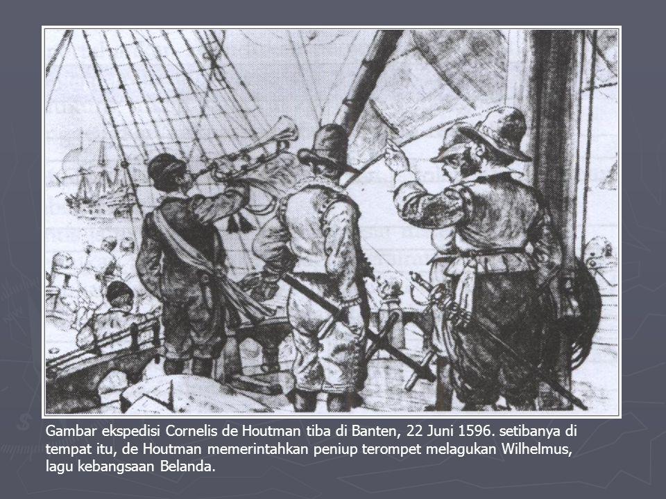 KEDATANGAN BELANDA KE INDONESIA ► Latar Belakang  Meletusnya perang selama 80 tahun antara Belanda dengan Spanyol (1568-1648).  Adanya petunjuk jala