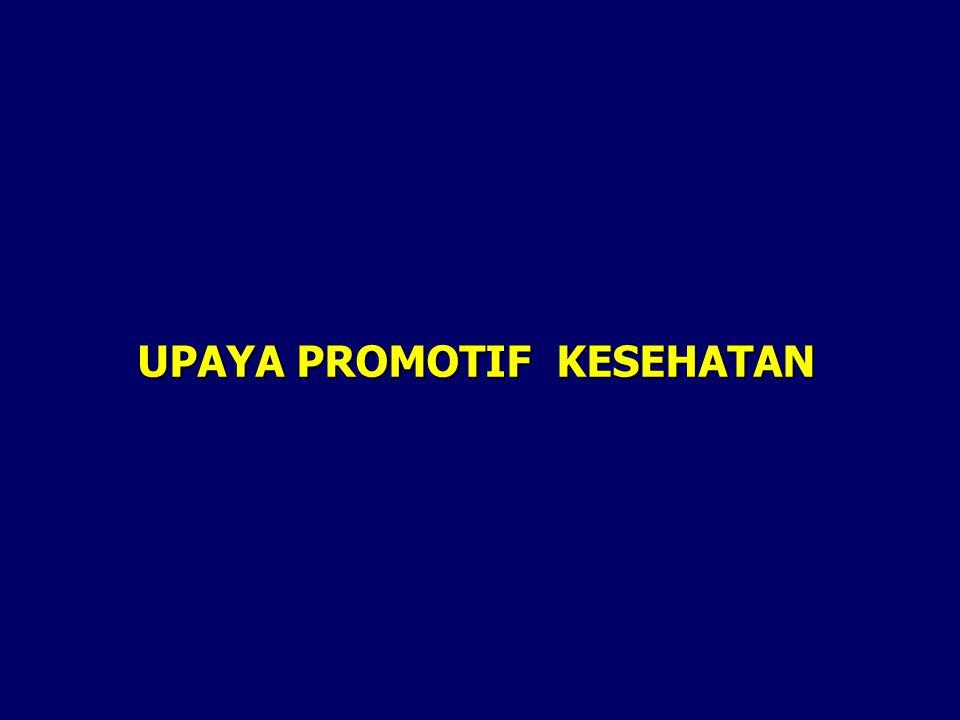 UPAYA PROMOTIF KESEHATAN
