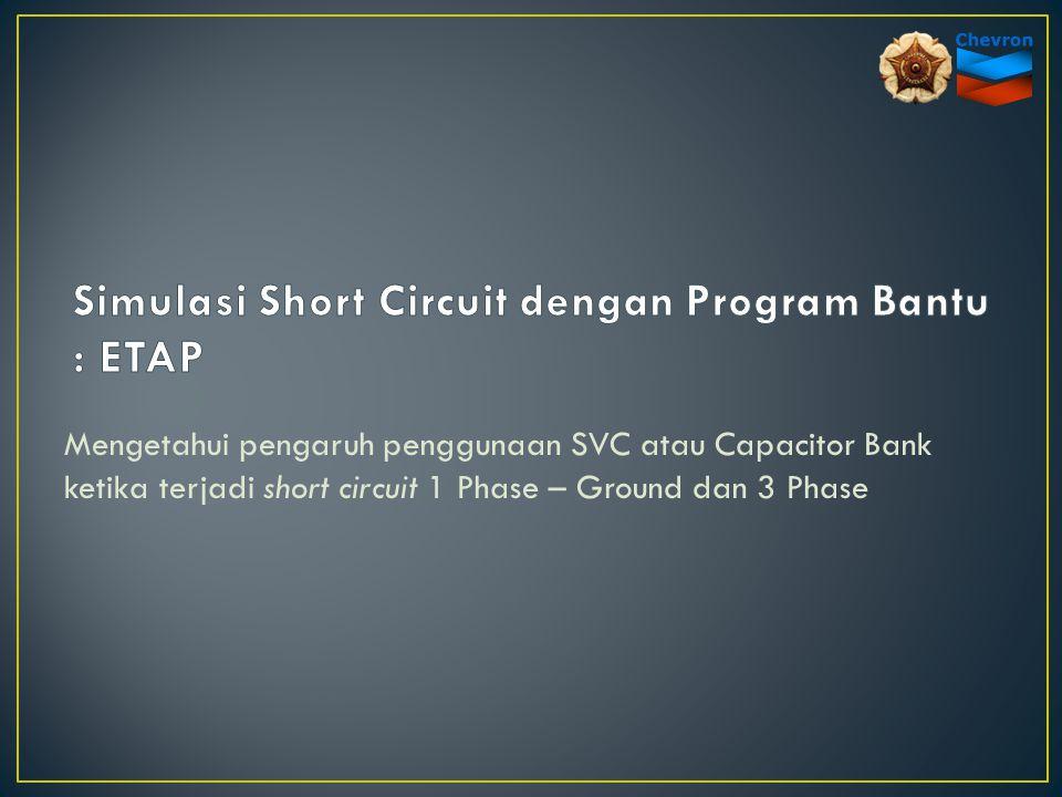 Mengetahui pengaruh penggunaan SVC atau Capacitor Bank ketika terjadi short circuit 1 Phase – Ground dan 3 Phase