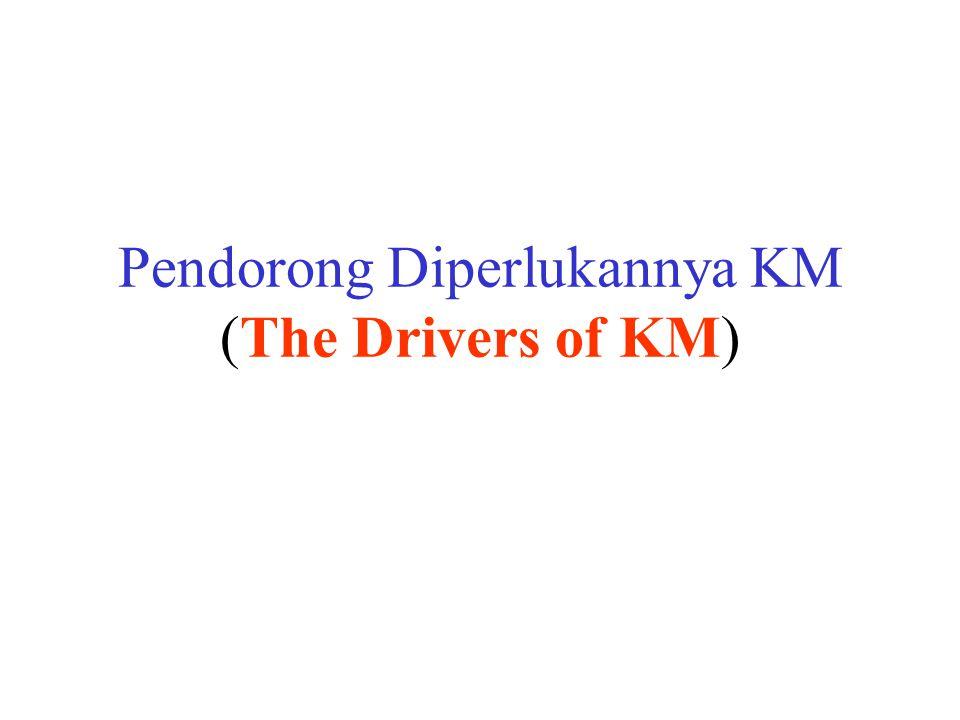 Pendorong Diperlukannya KM (The Drivers of KM)