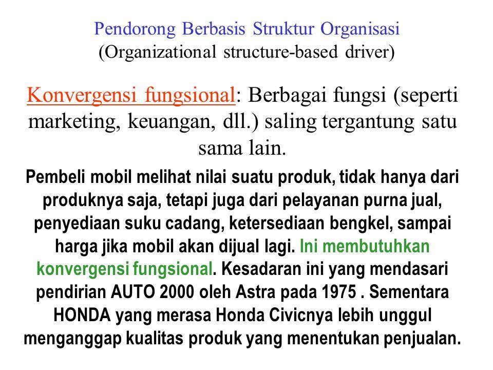 Konvergensi produk dan servis.