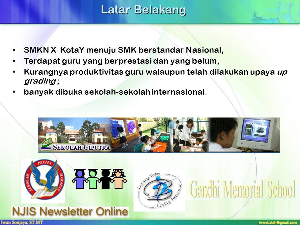 Latar Belakang SMKN X KotaY menuju SMK berstandar Nasional, Terdapat guru yang berprestasi dan yang belum, Kurangnya produktivitas guru walaupun telah