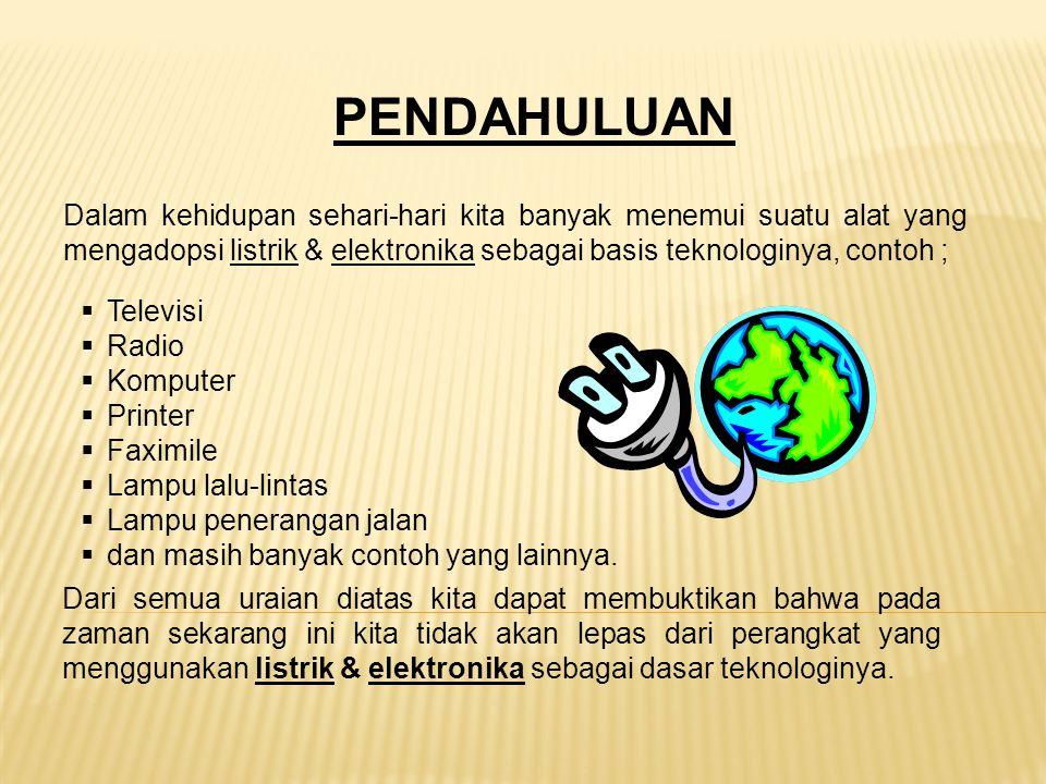 1.RESISTOR ( KELOMPOK 1,2 ) 2.KAPASITOR ( KELOMPOK 3,4 ) 3.DIODA ( KELOMPOK 5,6 ) 4.TRANSITOR ( KELOMPOK 7,8 ) Membuat makalah prakarya dan file presentasi ( power point), untuk materi : Email : maxgazali@yahoo.com