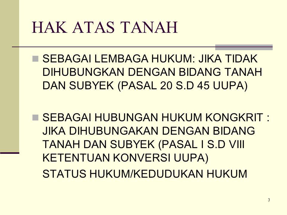 4 HAK ATAS TANAH BERISI 1.