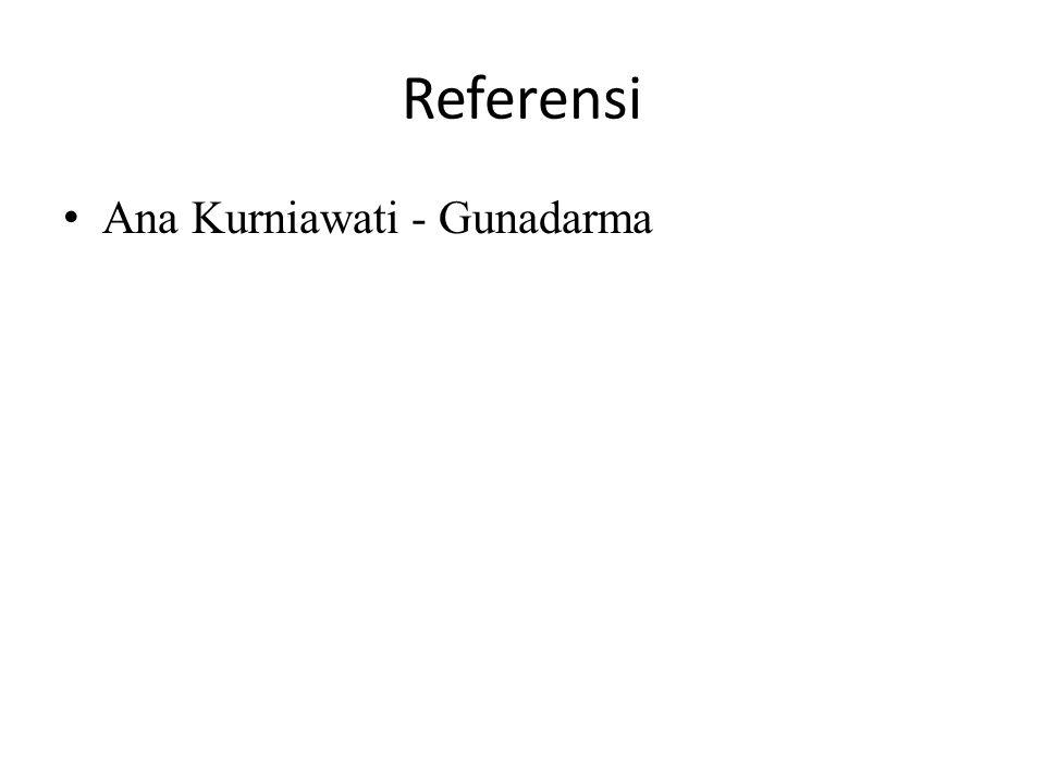 Referensi Ana Kurniawati - Gunadarma