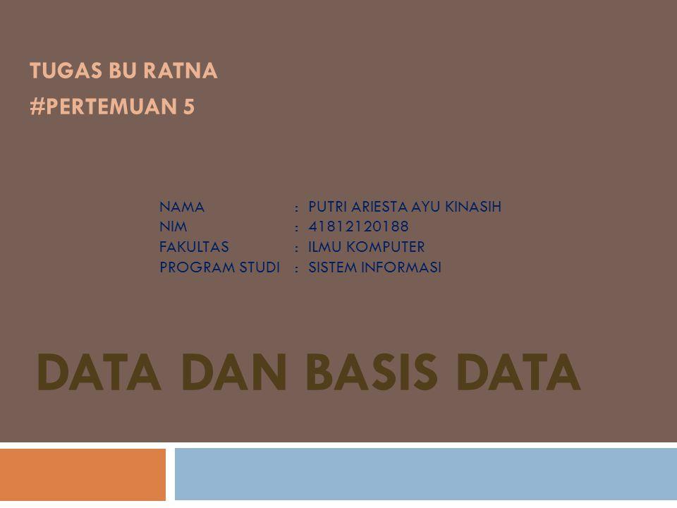  Database Management System (DBMS) Sistem manajemen basis data (DataBase Management Systems – DBMS) berisi kumpulan data yang saling berelasi dengan set program untuk mengakses data tersebut.